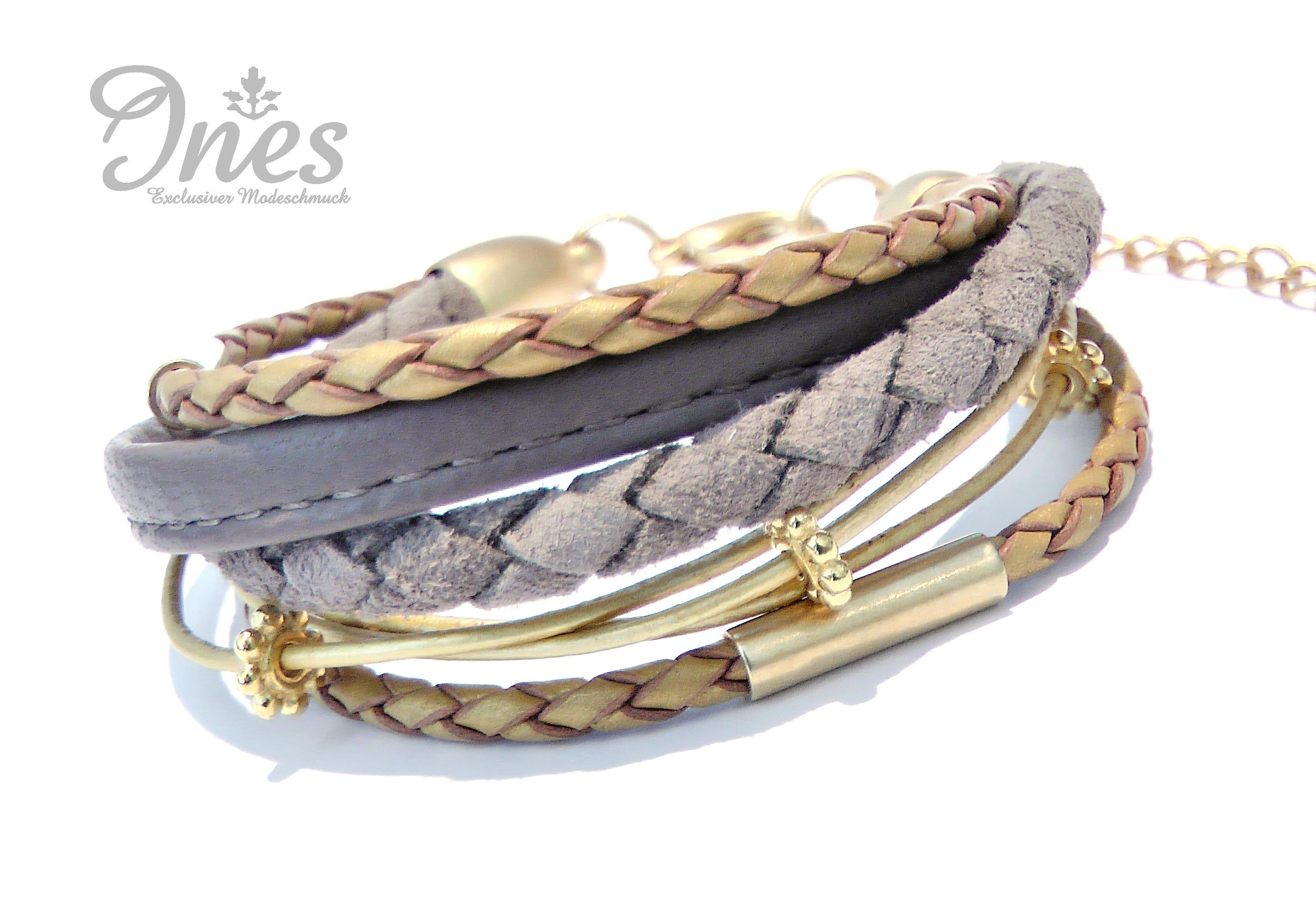 Modeschmuck armband gold  INES Exclusiver Modeschmuck | handgefertigte Schmuckstücke